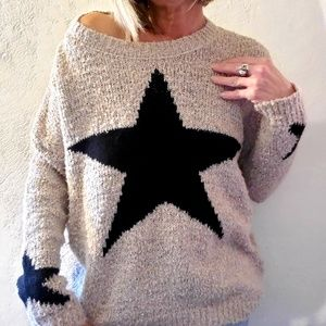 Promesa star print sweater
